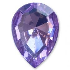 13mm x 18mm LILAC Teardrop Shape Acrylic Embellishment Gems